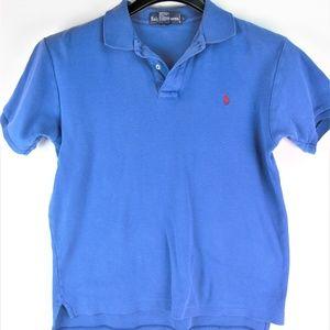 Kid's Ralph Lauren Blue Polo Shirt Size Large
